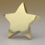 Goldtone Star paperweight