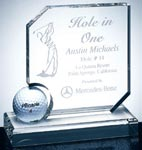 Optical Crystal Hole in One Award (Golf Ball not included)