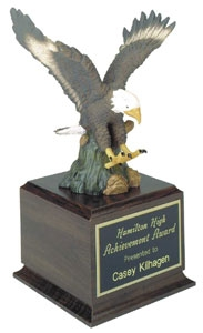 Hand Painted Eagle Award