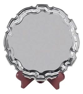 Nickel Plated Swatkins Chippendale Tray