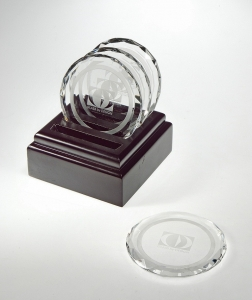 ROUND CRYSTAL COASTERS