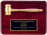 Piano Finish Rosewood Gavel Plaque