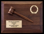 Fully Modeled Walnut Gavel Plaque