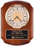 Solid Brass Diamond-Spun Bezel Clock Plaque