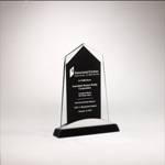 Apex Glass Award Black Base and Aluminum Accent