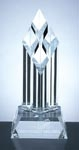Superior Diamond Award, Hand polished crystal with a crystal base