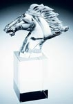 Optical Crystal faming horse
