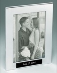 Polished aluminum picture frame