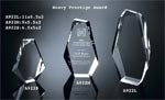 "Clear Acrylic 2"" Thick Jewel Bevel Award"