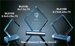 Blue Diamond Shape Award on base