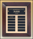 Cherry Finished Perpetual Plaque