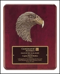 Rosewood Plaque with Eagle