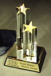 Gold Lucite 2-Star Award