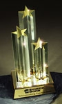 Gold Lucite 3-Star Award